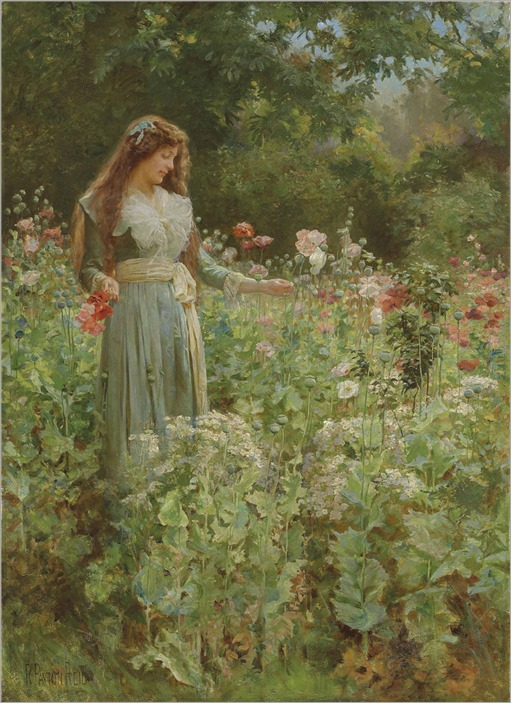 Robert Payton Reid (1859-1945) Gathering poppies