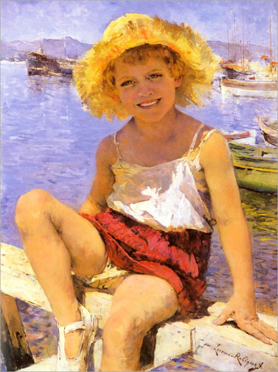 Robiquet_Marie_Lucas_Girl_By_The_Harbour
