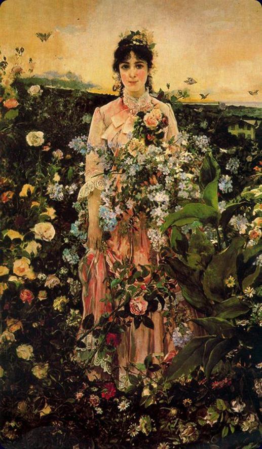 Spring by Ignacio Pinazo Camarlench (spanish painter)