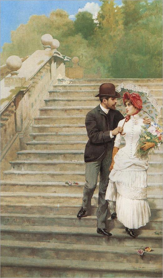 Vittorio Matteo Corcos (1859-1933) - Corteggiamenti