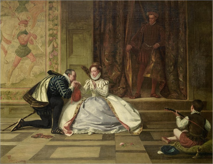 William Frederick Yeames (1835 - 1918) - Queen Elizabeth and the Earl of Leicester, 1865