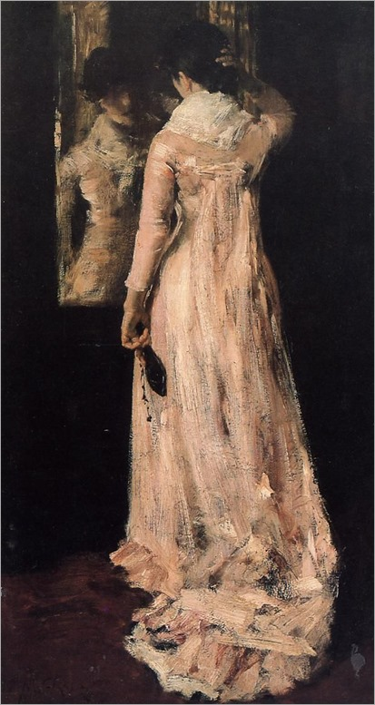 William Merritt Chase (American, 1849-1916) The Mirror, c1883