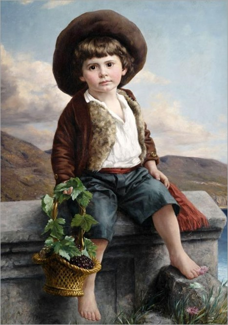 a-boy-with-a-basket-of-fruit-by-ernst-schmitz