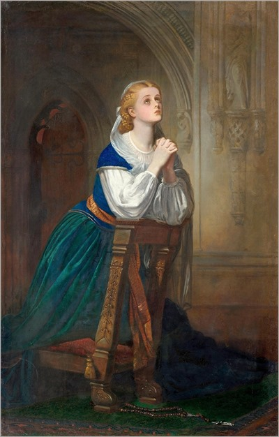 a girl praying-Robert Thorburn (scottish, 1818-1885)