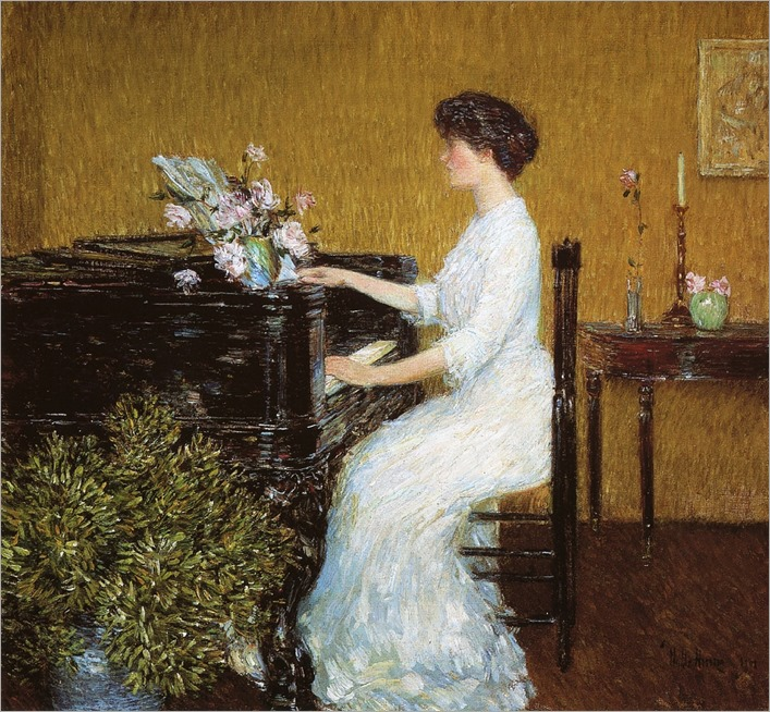 At the Piano (1908). Frederick Childe Hassam (American, 1859-1935)