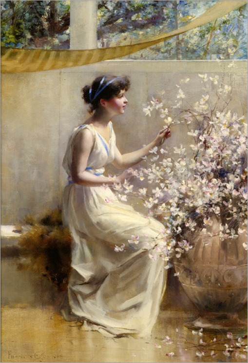 Classical Maiden by Francis Coates Jones (1857-1932)