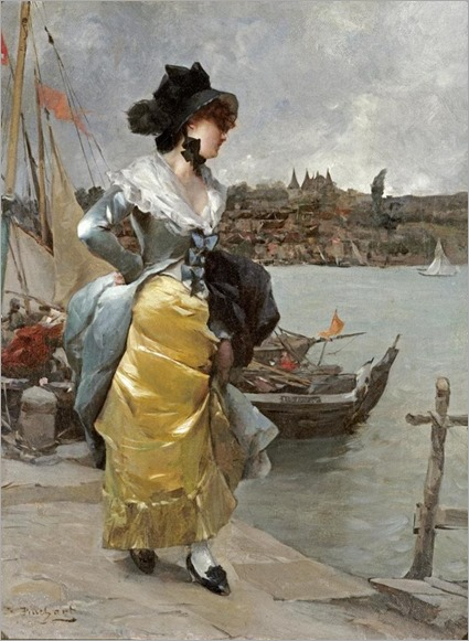 EMILE-AUGUSTE PINCHART - AT THE QUAYSIDE
