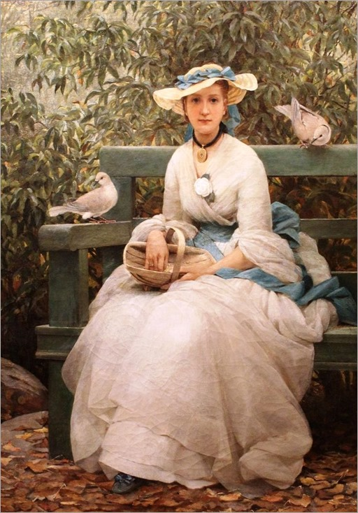Feeding The Doves - by George Dunlop Leslie