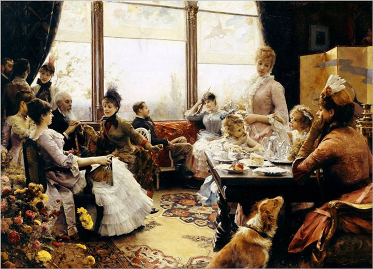 Five O'clock Tea-Julius LeBlanc Stewart