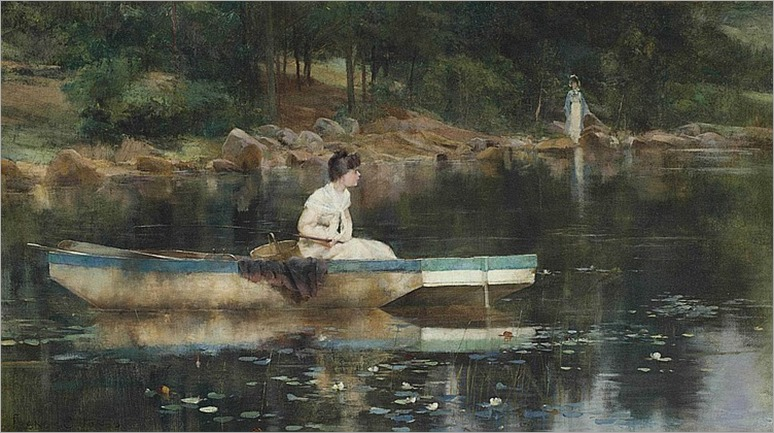 Francis Coates Jones (1857-1932)-woman fishing
