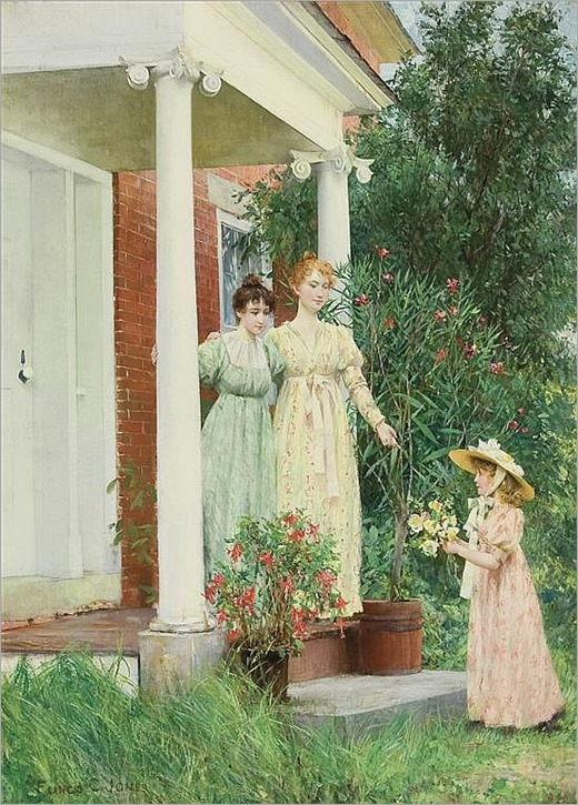FRANCIS COATES JONES American (1857-1932) A Gift of Flowers