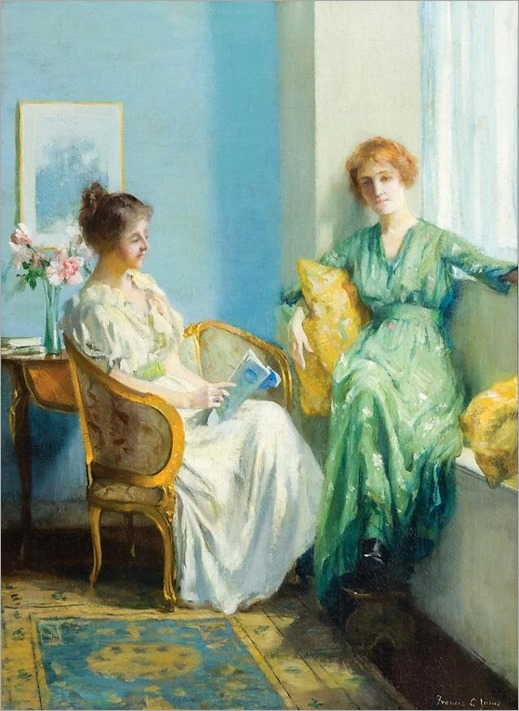 FRANCIS COATES JONES, American (1857-1932), An Afternoon Reading