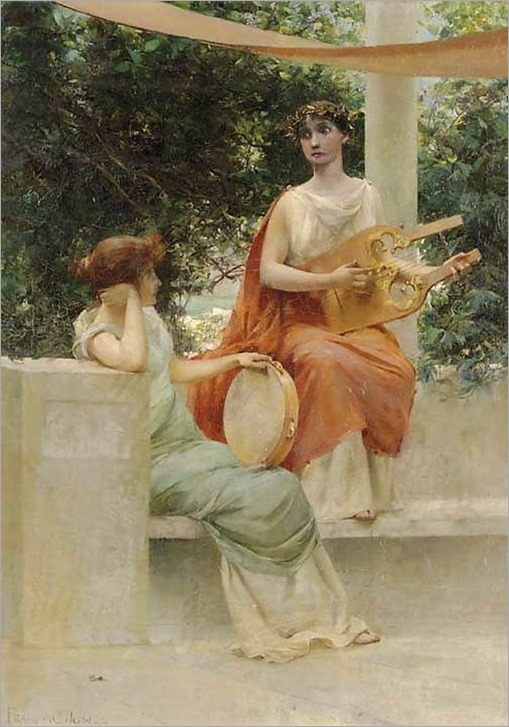 FRANCIS COATES JONES AMERICAN 1857 - 1932-grecian girls