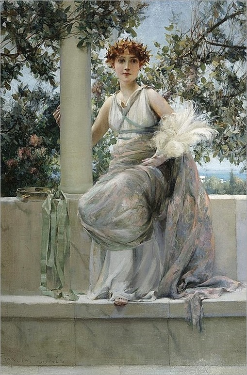 FRANCIS COATES JONES AMERICAN 1857 - 1932 LADY WITH A TAMBOURINE