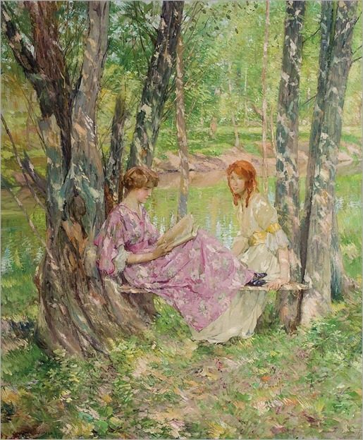 FRANCIS COATES JONES, American (1857-1932), Two Women in a Garden