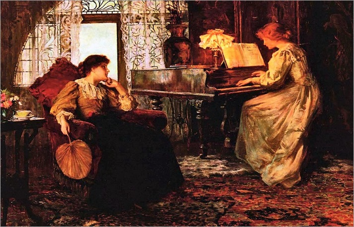 Francis Sydney Muschamp (1851-1929) - The Piano Lesson