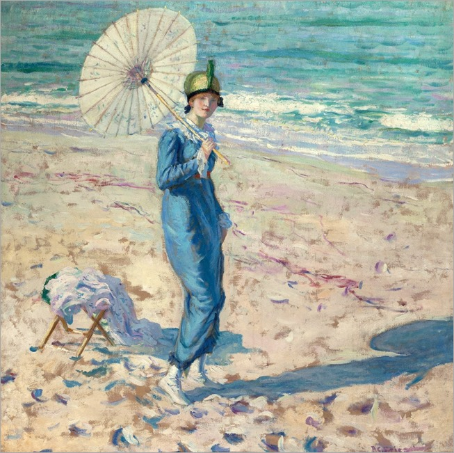 Frederick-Carl-Frieseke-On-the-Beach