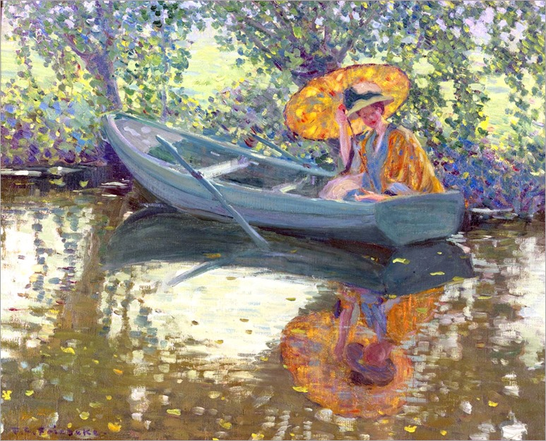 frederick-carl-frieseke-on-the-river