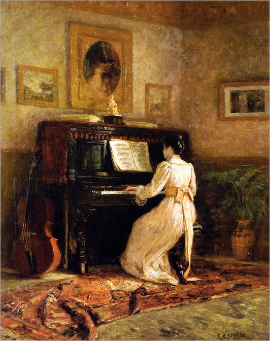 Girl at the Piano, aka The Piano (1893). Theodore Clement Steele (American, 1847-1926