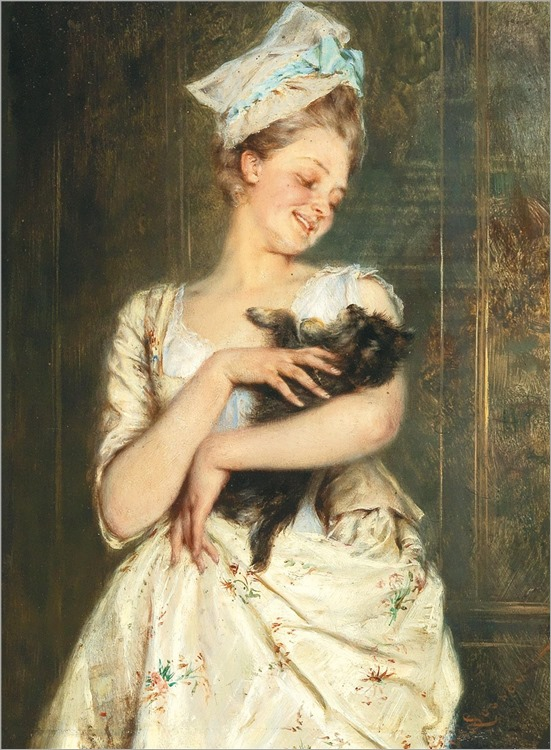 Heinrich Lossow (1843-1897) The little darling