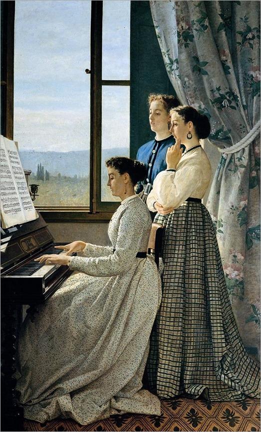 Il canto di uno stornello by Silvestro Lega - 1867