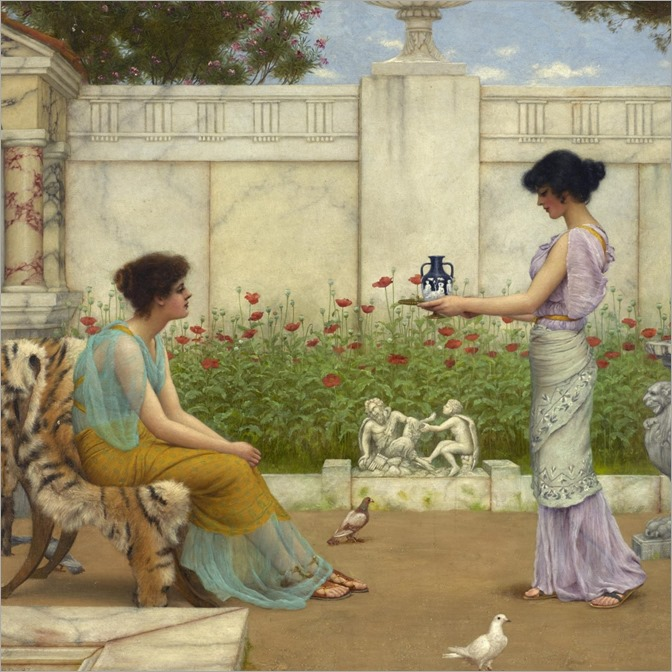 J.W.-Godward-on the terrace