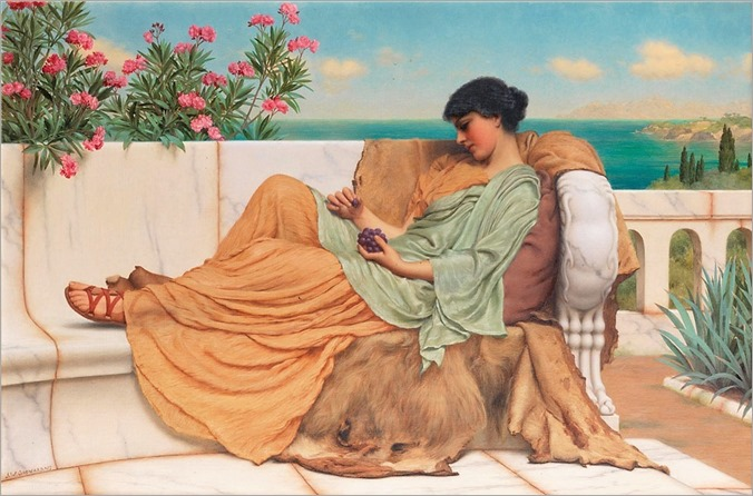John William Godward (1861-1922) Dolce far niente