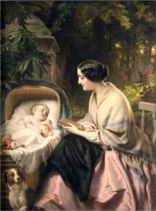josephus laurentius dyckmans (belgian, 1811-1888)- a quiet moment