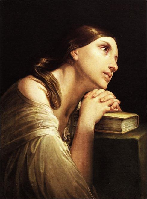 La preghiera (c.1840). Domenichini Gaetano (Italian, 1786-1864)