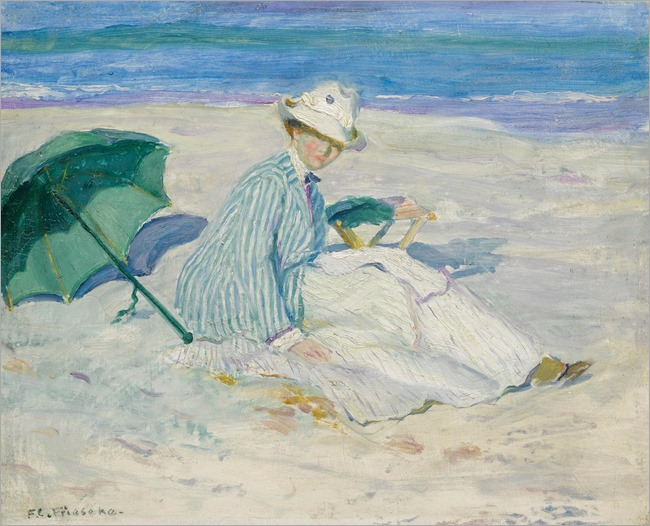 Lady On A Beach by Frederick Carl Frieseke
