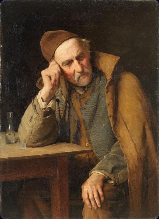le-vieux-schnapseur-un-jules-avec-verre-de-schnaps-1900-Albert Anker