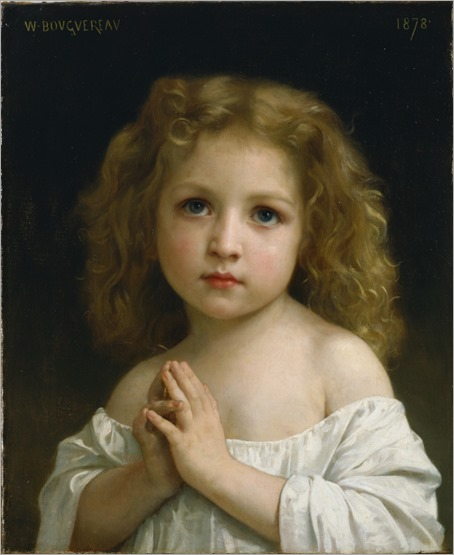 Litle girl by William-Adolphe Bouguereau (french, 1825 - 1905)