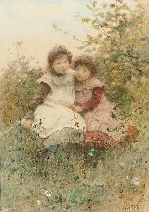 playmates-Hector Caffieri, british 1847-1932, RBA