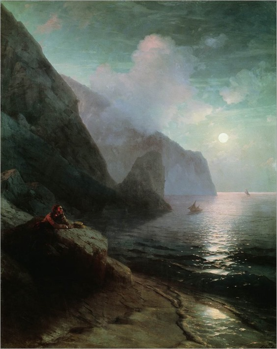 Pushkin in Gurzuf -1880- Ivan Aivazovsky (russian painter)