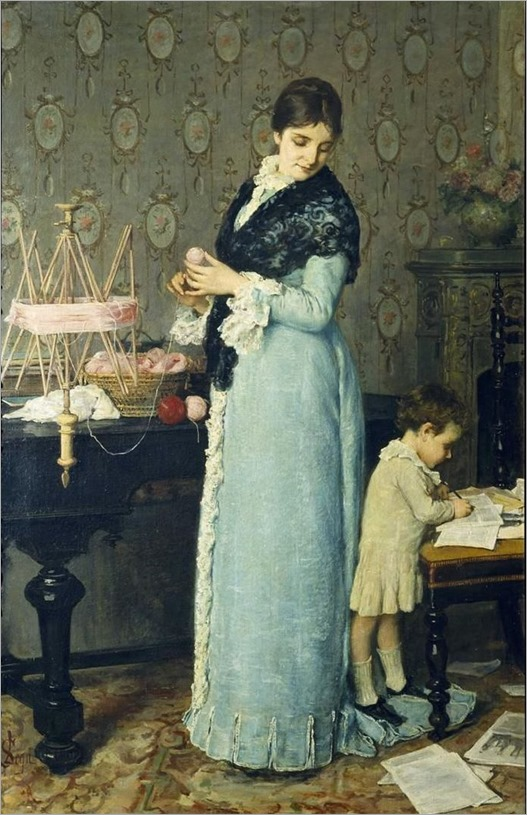 Silvestro Lega _mother