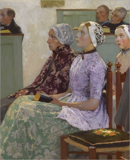 Sunday Mass (c.1886). Gari Melchers (American, 1860-1932)