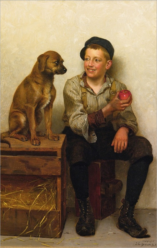 teasing the pup-john george brown