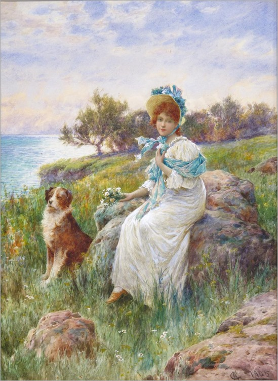 the flower gatherer-Alfred Augustus Glendenning (c.1840-1910)