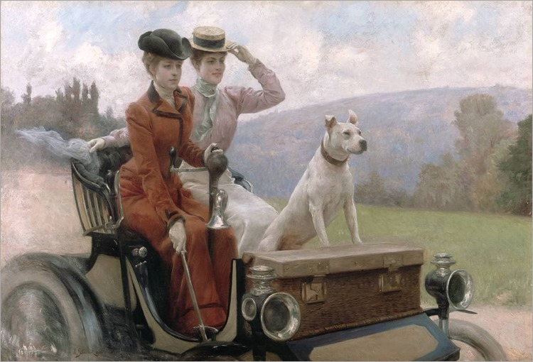 The Goldsmith Ladies in a Peugeot - 1897- Julius LeBlanc Stewart