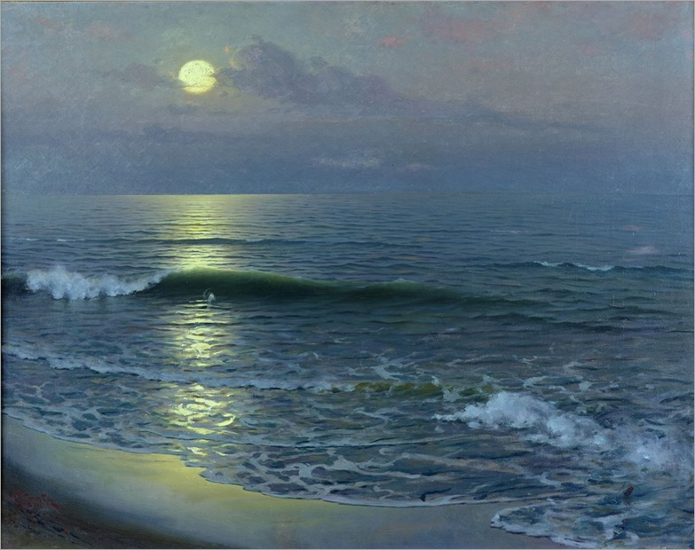 the moonrise by Gillermo Gomez Gil - 1906