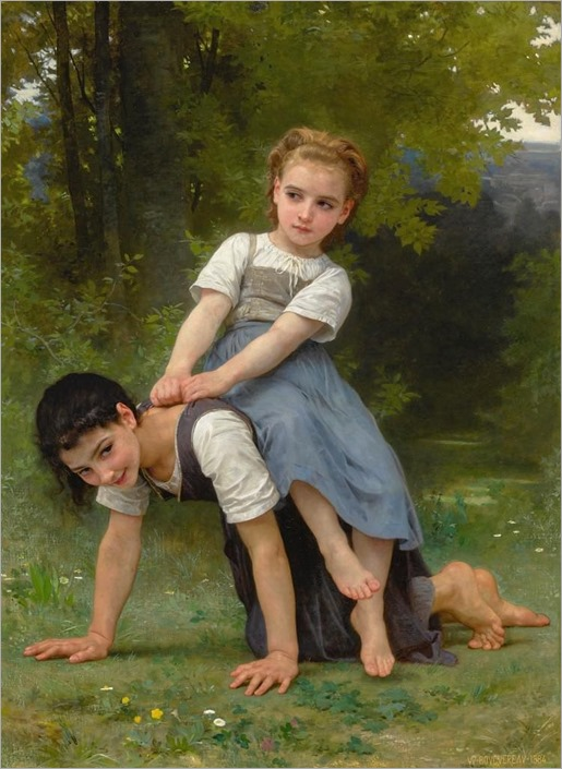WILLIAM BOUGUEREAU-La bourrique (The Pony-back ride)