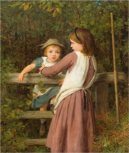 William Charles Thomas Dobson (1817-1898) Children playing in the forest. 1891