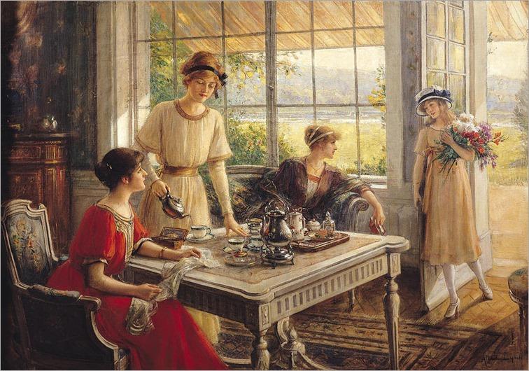 women-taking-tea-albert-lynch