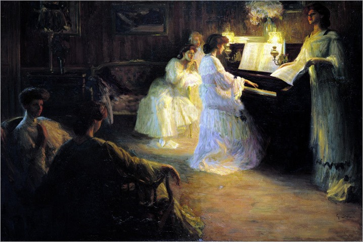Young Girls at the Piano - Gabriel Deluc_1906