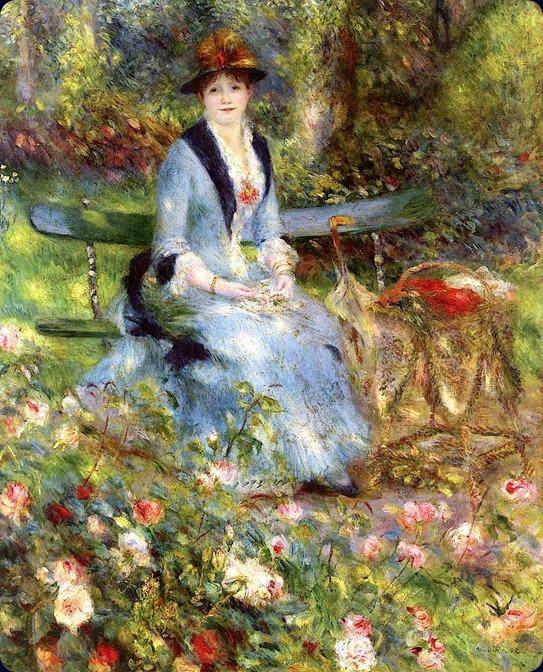 Among the Roses Pierre Auguste Renoir - 1882