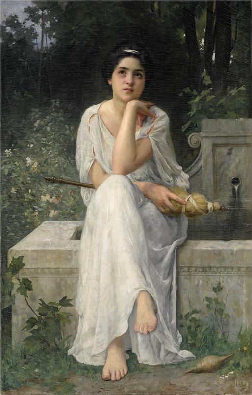Charles Amable Lenoir (1861-1940) The Spinner