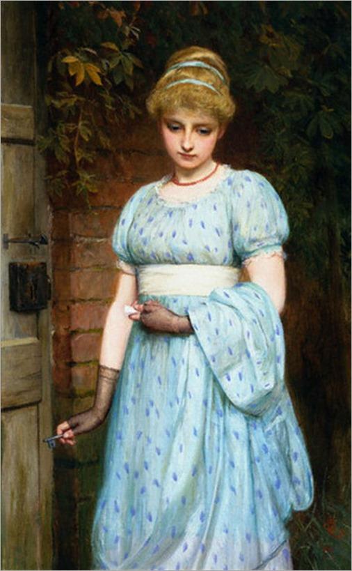 Charles Sillem Lidderdale - At the Garden Gate