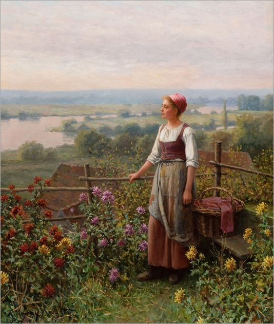Daniel Ridgway Knight (1839 - 1924) - Evening at Chantemesle
