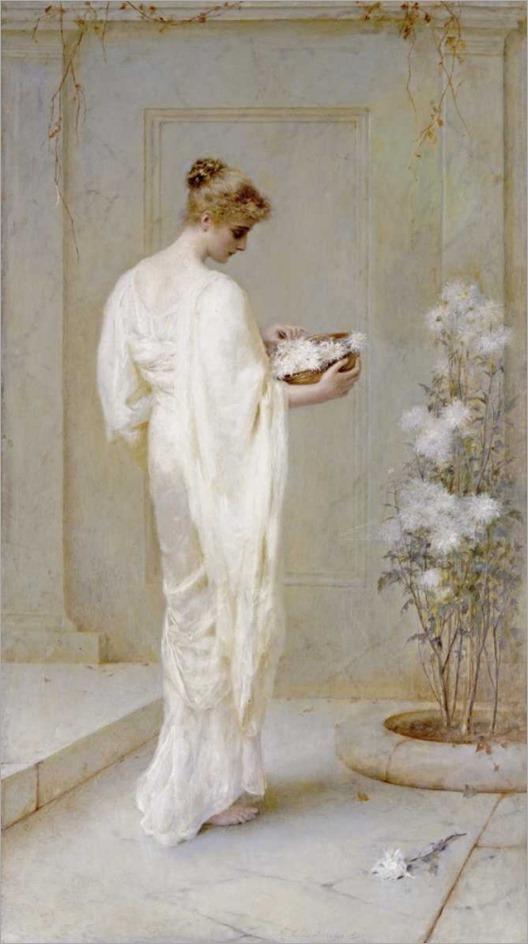 divinely fair - Henry Thomas Schafer (british, 1854-1922)
