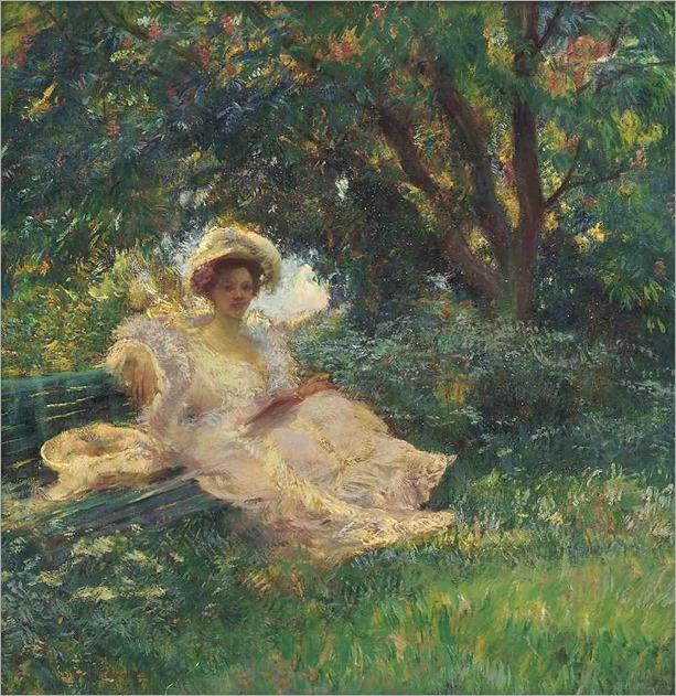Gaston La Touche (French, 1854-1913)- Sous les arbres